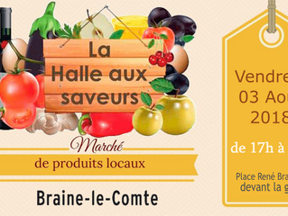 Halle aux Saveurs de Braine-le-Comte - 03 août - 17h à 20h