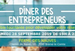 Dîner des entrepreneurs 28/09/19