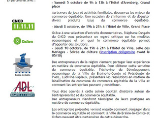 Semaine du Commerce équitable à Braine-le-Comte du 05 au 10 octobre.
