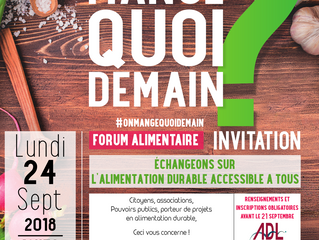 Forum alimentaire - 24/09/18 - L'alimentation durable accessible à tous - INSCRIPTION
