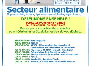 Petit déjeuner 18/11/19 - 08h00 - C'EST DÉCIDÉ, JE GÈRE MIEUX MES DÉCHETS !