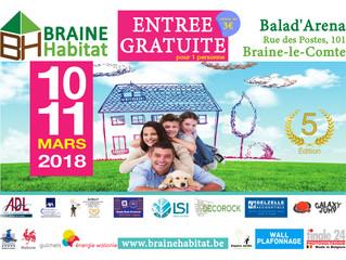 Braine Habitat 2018 - ces 10 / 11 mars