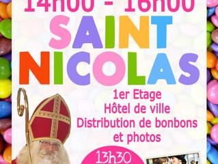 SAINT NICOLAS - MERCREDI 05 DECEMBRE 14-16h