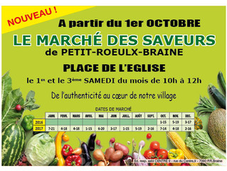 Ce samedi : Marché à Petit-Roeulx-lez-Braine