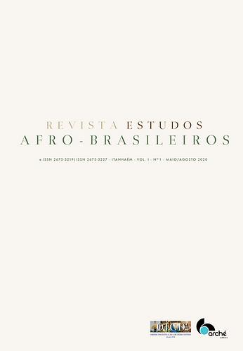 REVISTA ESTUDOS AFRO-BRASILEIROS (v. 1, n. 1)