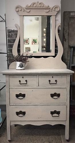 Vintage Mirrored Dresser