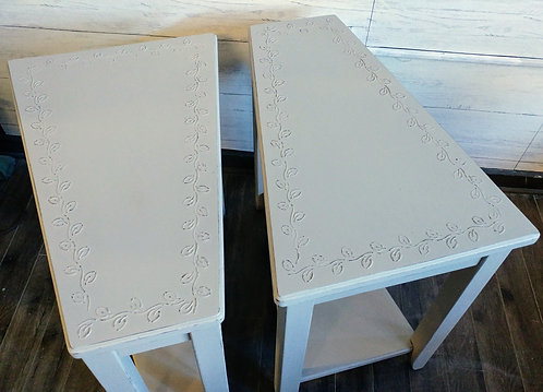 Pair of Irregularly Shaped End Tables