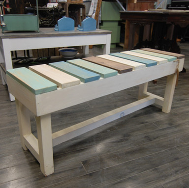 Multi-coloured Bench (Cold Colours)