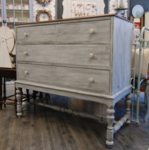 Distressed Dresser with Exposed Wood Top