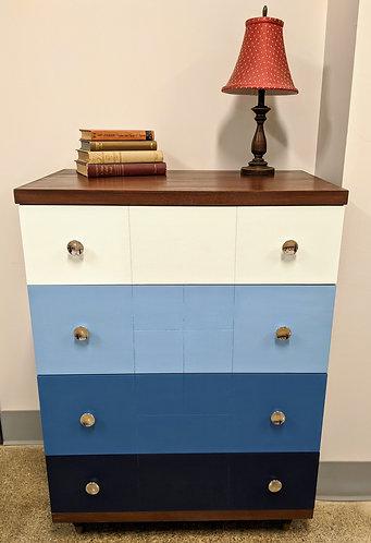 Ombre Mid-Century Dresser