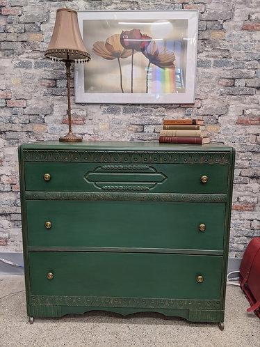 Three Drawer Dresser with Beautiful Detail