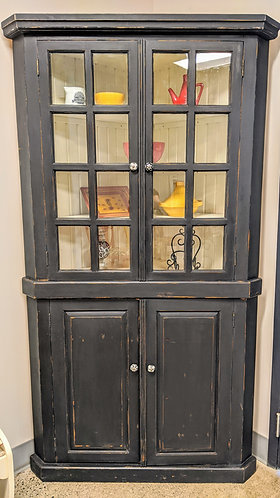 Handmade Pine Corner Cabinet