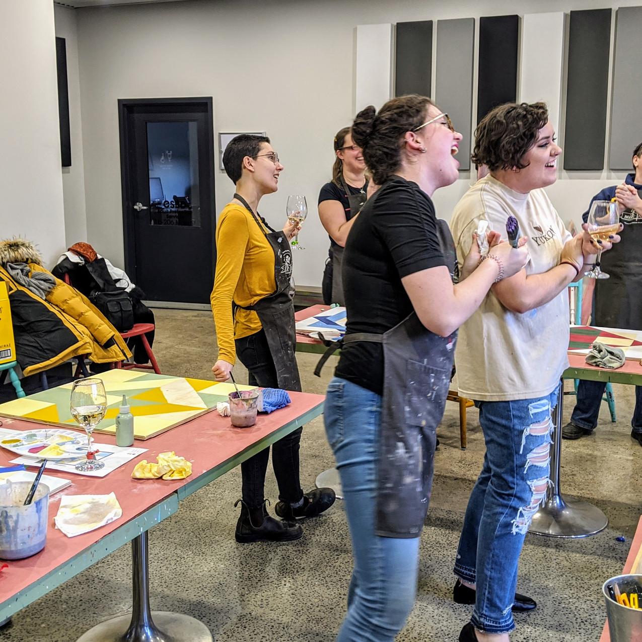 Lisa birthday workshop group singing