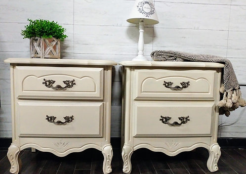 Pair of Nightstands with Pretty Detail