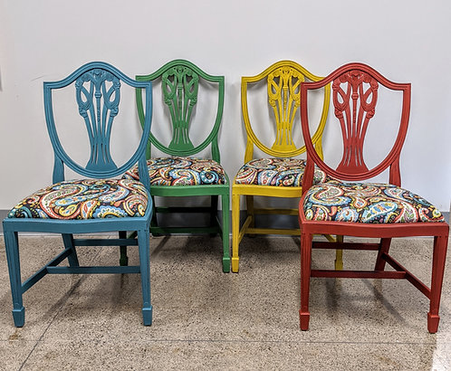 Four Chairs, Four Colours; One Fabric!