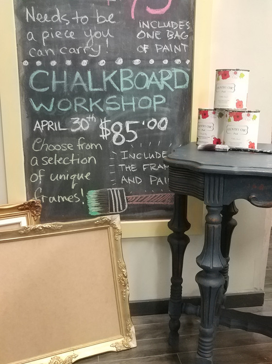 Upcoming Workshop ~ Chalkboard