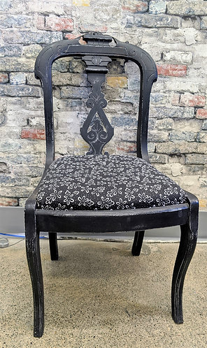 Ornate Black Wooden Chair