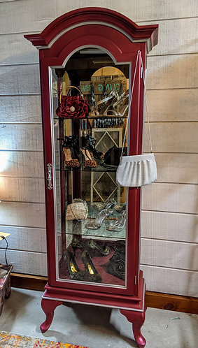 Glam Metallic Curio Cabinet