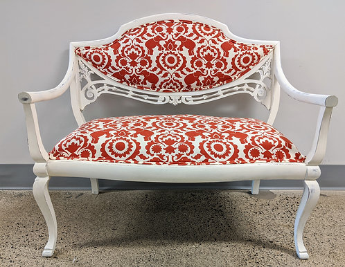 Elegant Bench with Elephant-themed Upholstery