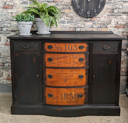 Painted, Stained and Stenciled Buffet