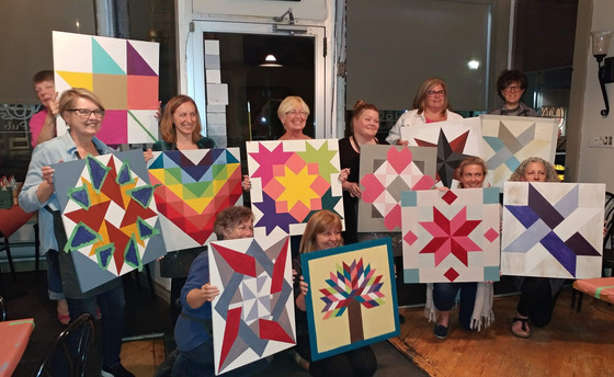 Sip & Dip - Barn Quilt Squares