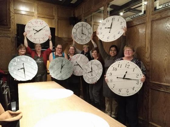 Sip & Dip - Rustic Farmhouse Clock