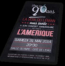 Invitation de concert Harmonie La Voix du Léman