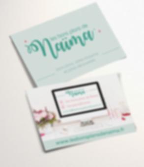 Carte de visite Les bons plans de Naima