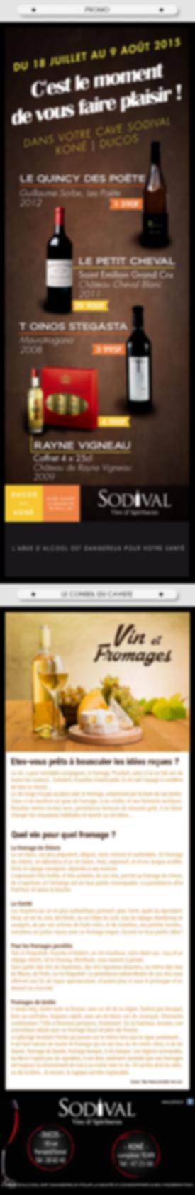 Newsletter caviste Sodival