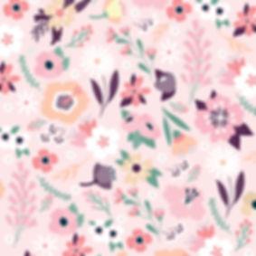 Motif floral bohème chic