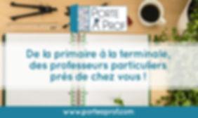 Image facebook Porte à Prof