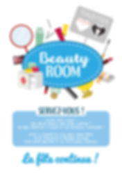 Affiche pour toilettes (beauty room) mariage