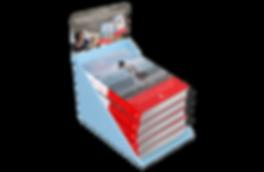 PLV Présentoir de livres (stop pile) éditions Charleston