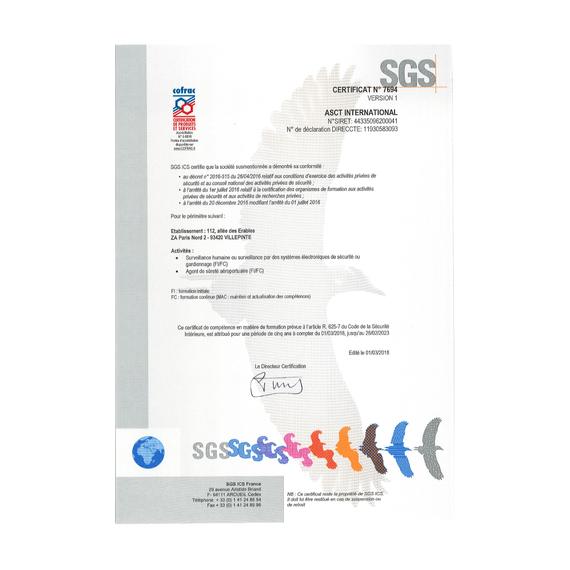 Certificat de compétence en matière de formation