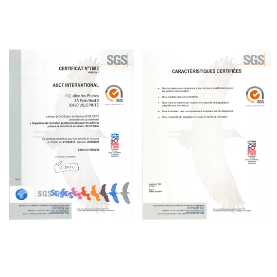 Certification QUALICERT