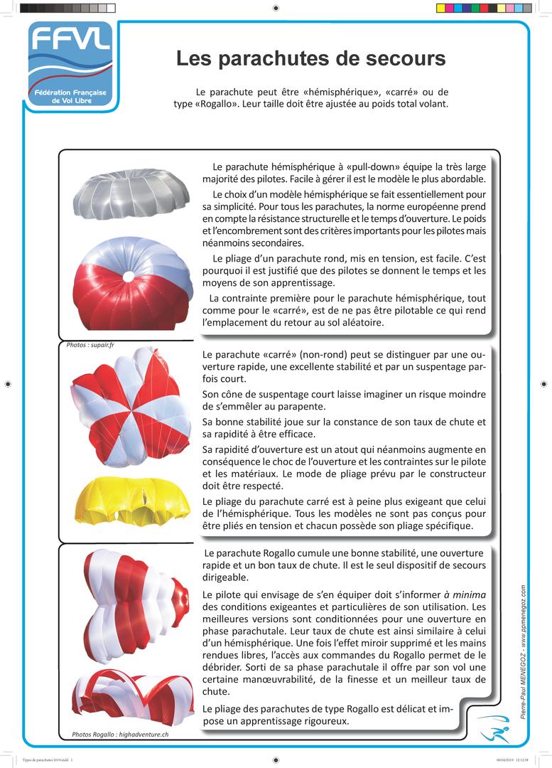 10-Parachutes types 2019