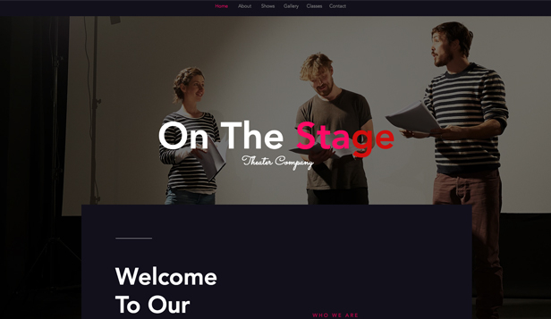 Podiumkunsten website templates – Theatergezelschap