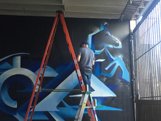 Electric Pony Studios Mural Project July 2017 : Interview with artist, Step One