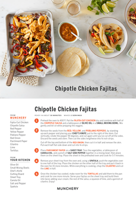 Chipotle Chicken Fajitas