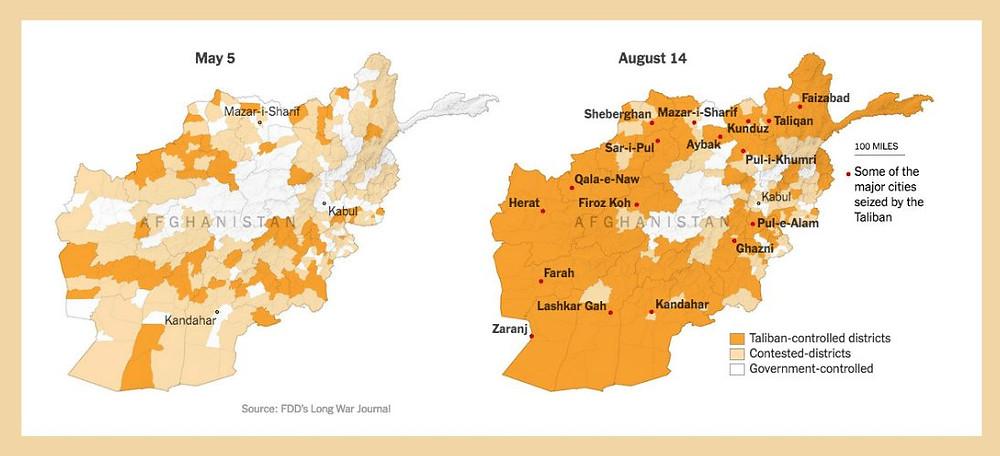 χάρτης του αφγανιστάν
