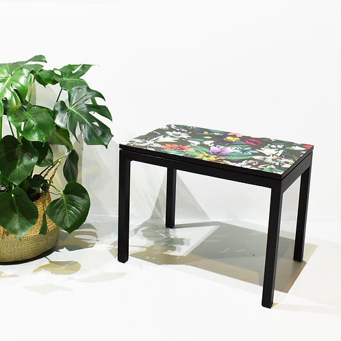 Upcycled retro solid wood side table