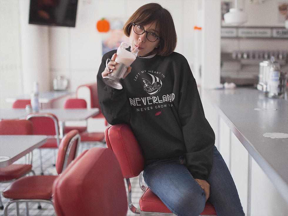 crewneck-mockup-of-a-cool-girl-with-short-hair-and-glasses-drinking-a-milkshake-at-a-diner