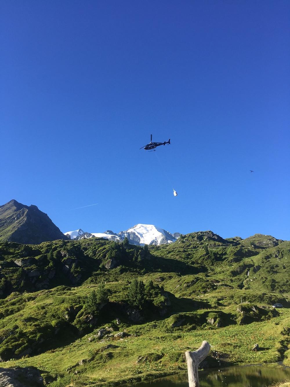 Héliportage du drone