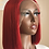 """Thumbnail: """"Monica"""" 12"""" Red Lace Frontal Bob Wig"""
