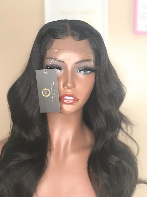 """""""Kye"""" 16"""" Natural Black Straight Closure Wig"""