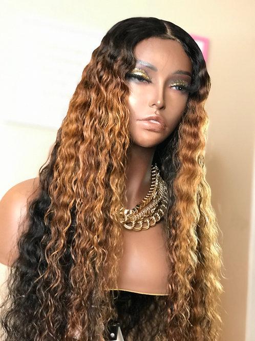"""Jayda""  24"" 4x4 Lace Closure Deep Wave Wig"