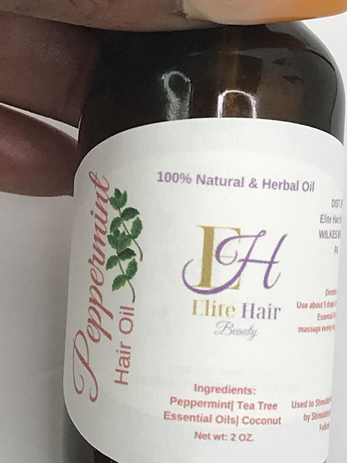 Organic Hair Growth Oils Infused w/Essential Oils-Dropper Bottle