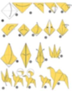 Origami wielblad