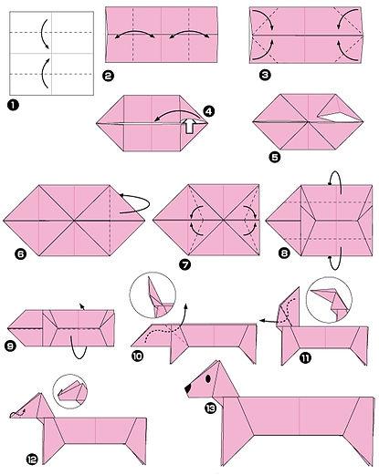 Origami jamnik