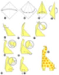 Origami zyrafa